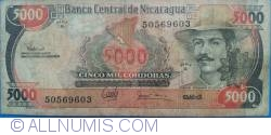 Image #1 of 5000 Córdobas L.1985 (1987)