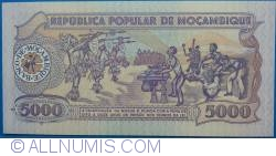 Image #2 of 5000 Meticais 1989 (3. II.)