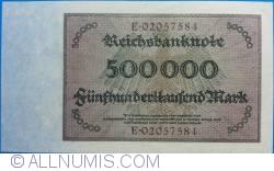 Image #2 of 500.000 Mark 1923 (1. V.) - 8 digit serial
