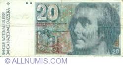 Image #1 of 20 Franken (19)80 - signatures Dr. Edmund Wyss / Dr. Pierre Languetin