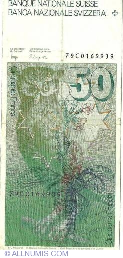 Image #2 of 50 Franken (19)79 sign Dr. Edmund Wyss / Dr. Pierre Languetin