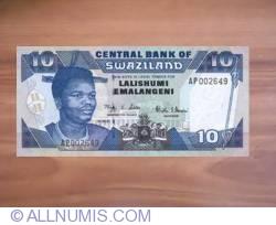 Imaginea #1 a 10 Emalangeni 2001