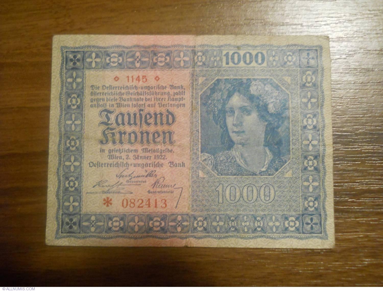 Circulated Banknotes Austria  1000 Kronen  1919  XF++  P 59