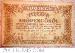 10000 (Tizezer) Adópengö 1946 (28. V.)