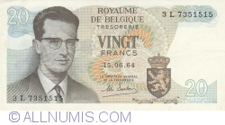 Image #1 of 20 Francs 1964 (15. Vi.) - signature Maurice Esselens