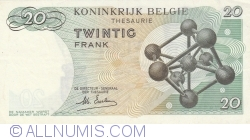 Image #2 of 20 Francs 1964 (15. Vi.) - signature Maurice Esselens