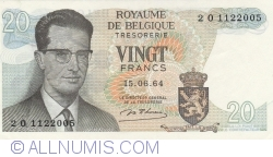 Image #1 of 20 Francs 1964 - signature Marcel D'Haese