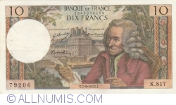 Image #1 of 10 Francs 1972 (7. IX.)