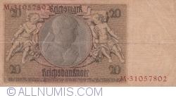 Image #2 of 20 Reichsmark 1929 (22. I.) - M