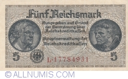 Image #1 of 5 Reichsmark ND (1940-1945)