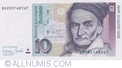 Image #1 of 10 Deutsche Mark 1993 (1. X.)