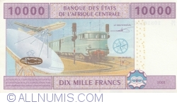 Image #2 of 10,000 Francs 2002 - signatures L. Abaga-Nchama / Louis Aleka-Rybert