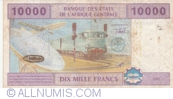 Image #2 of 10,000 Francs 2002 - signatures J. F. Mamalepot /Censeur ...