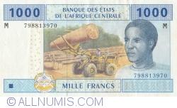 Imaginea #1 a 1000 Franci 2002 - semnături Abbas Mahamat Tolli / Louis Aleka-Rybert