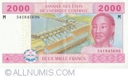 Imaginea #1 a 2000 Franci 2002 - semnături Abbas Mahamat Tolli / Louis Aleka-Rybert
