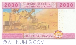 Image #2 of 2000 Francs 2002 - signatures Abbas Mahamat Tolli / Louis Aleka-Rybert