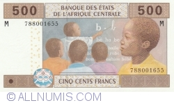 Imaginea #1 a 500 Franci 2002 - semnături Abbas Mahamat Tolli / Louis Aleka-Rybert