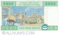 Imaginea #2 a 5000 Franci 2002 - semnături Abbas Mahamat Tolli / Louis Aleka-Rybert