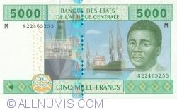 Imaginea #1 a 5000 Franci 2002 - semnături Abbas Mahamat Tolli / Louis Aleka-Rybert