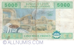 Image #2 of 5000 Francs 2002 - signatures J. F. Mamalepot / Louis Aleka-Rybert