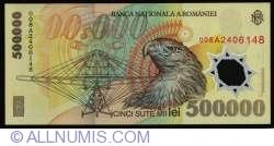 500,000 Lei 2000/(20)00 - Governor signature Mugur Isărescu