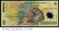 Image #2 of 500,000 Lei 2000/(20)00 - Governor signature Mugur Isărescu