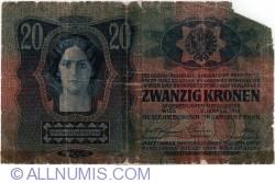 20 Kronen ND (1919 - old date 2.I.1913)