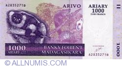Image #1 of 1000 Ariary = 5000 Francs 2004