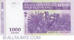 Image #2 of 1000 Ariary = 5000 Francs 2004