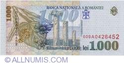 1000 Lei 1998 - Small BNR watermark