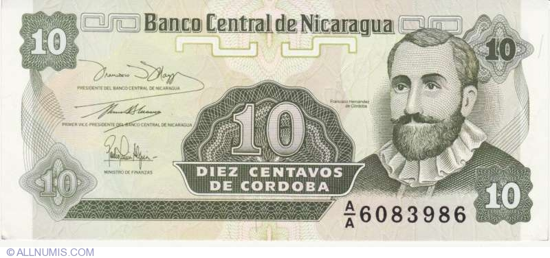 10 centavos UNC ND Nicaragua P-167 1991
