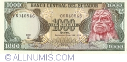 1000 Sucres 1986 (29. IX.) - Serie IS