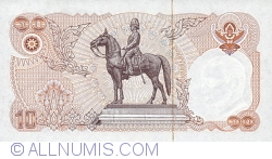 Image #2 of 10 Baht ND (1980) - signatures Sommai Huntakul / Kamjorn Satirakul