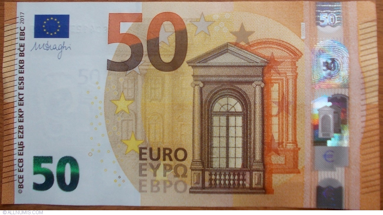 50 euro 2017 s banca d 39 italia emisiunea 2017 50 euro semn tur mario draghi uniunea. Black Bedroom Furniture Sets. Home Design Ideas