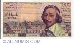 1000 Francs 1956 (5. IV.)