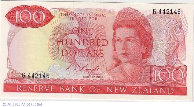 100 Dollars 1975/1977 (R  L  Knight), 1967-1981 ND Issue - New