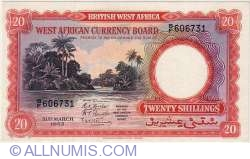 Image #1 of 20 Shillings 1953 (31. III.)