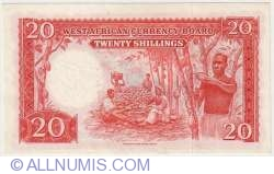Image #2 of 20 Shillings 1953 (31. III.)