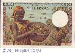 Image #2 of 1000 Francs 1957