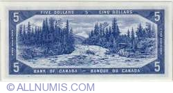 Imaginea #2 a 5 Dolari Canadieni 1954 - semnatura Beattie-Rasminsky