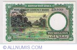 Image #1 of 10 Shillings 1957 (9 August)