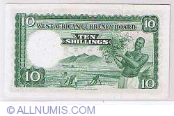 Image #2 of 10 Shillings 1957 (9 August)
