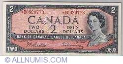Imaginea #1 a 2 Dolari Canadieni 1954 - semnatura Beattie-Rasminsky