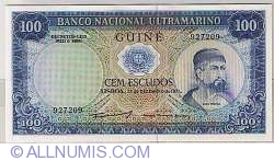 Imaginea #1 a 100 Escudos 1971 (17. XII.) - semnătură ADMINISTRADOR: Samuel Rodrigues Sanches
