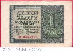 Image #1 of 1 Zloty 1941 (1. VIII.)