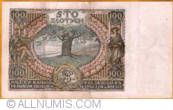 Imaginea #2 a 100 Złotych 1934 (9. XII) - 2