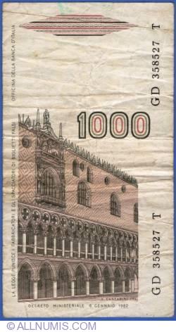 Image #2 of 1000 Lire 1982 (6. I.) - signatures Ciampi / Stevani