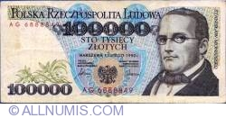 Image #1 of 100000 Zlotych 1990