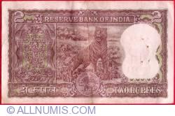Imaginea #2 a 2 Rupees ND - semnătură L. K. Jha