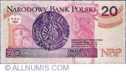 Image #2 of 20 Zlotych 1994 (1995)